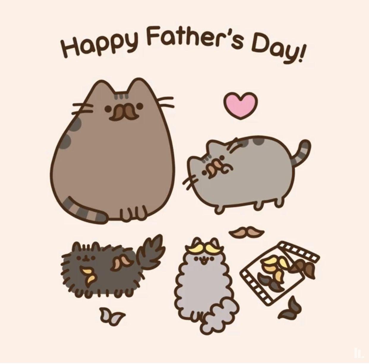 FATHERS DAY WITH PUSHEEN Pusheen cat Pusheen cute Pusheen stormy 1242x1226