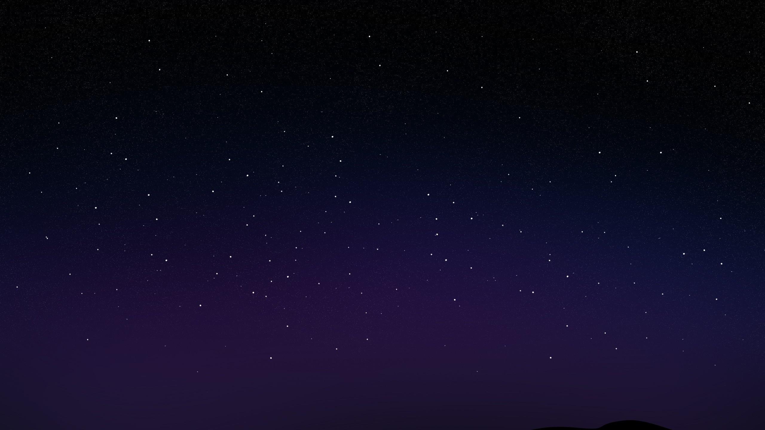 2560x1440 Starry Night Sky desktop PC and Mac wallpaper 2560x1440