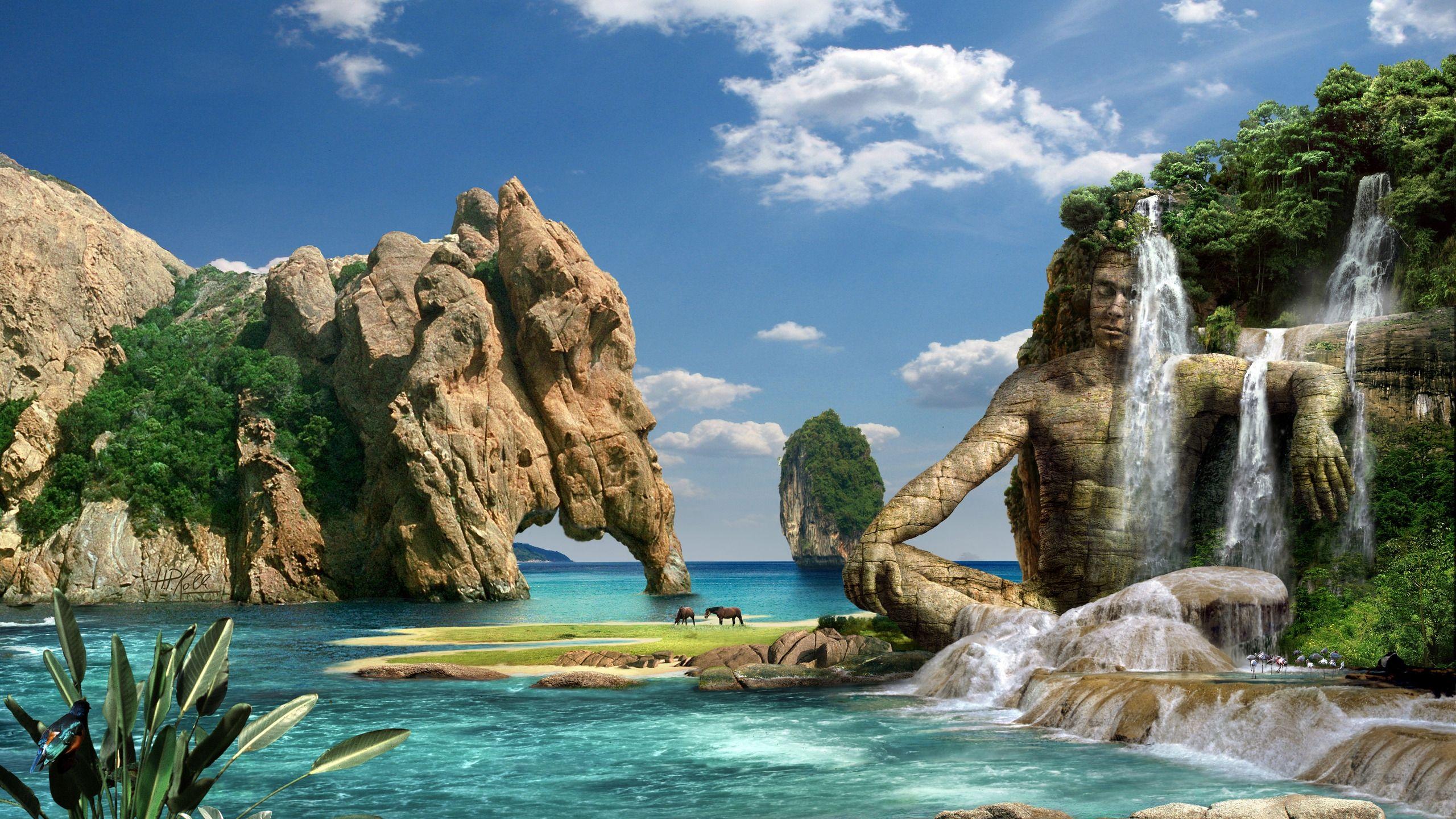 Скалы море природа  № 3800401 загрузить