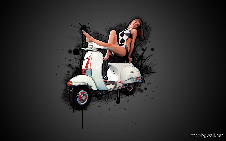 Vespa Girl Wallpaper 1440x900