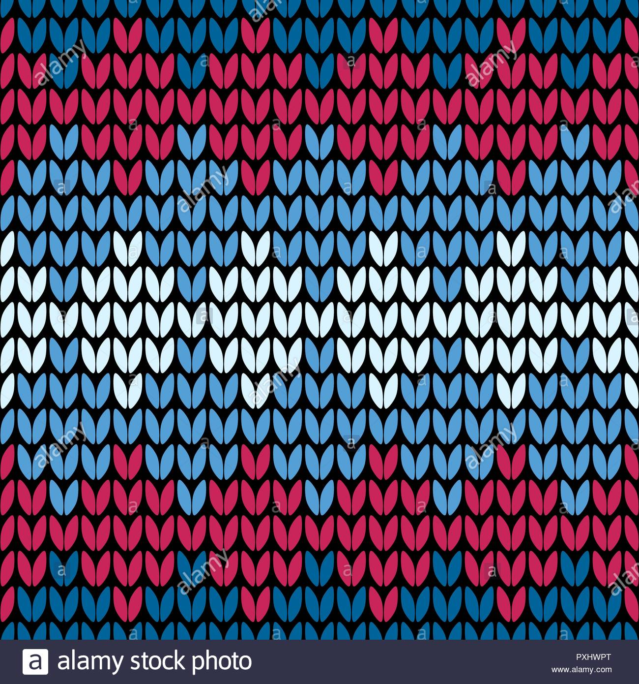 Abstract red and blue seamless knitting pattern wallpaper Stock 1300x1390
