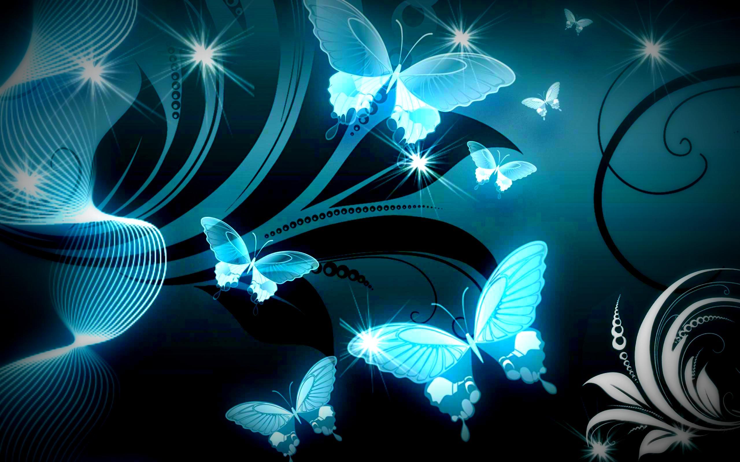 Blue Butterfly Wallpaper HD 2560x1600