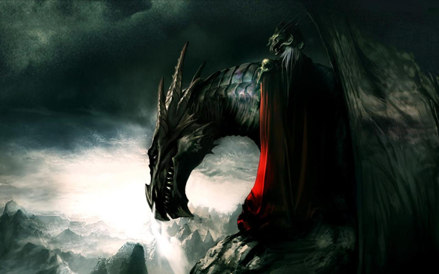 dragon fans out there I found these amazingly cool dragon wallpapers 1440x900