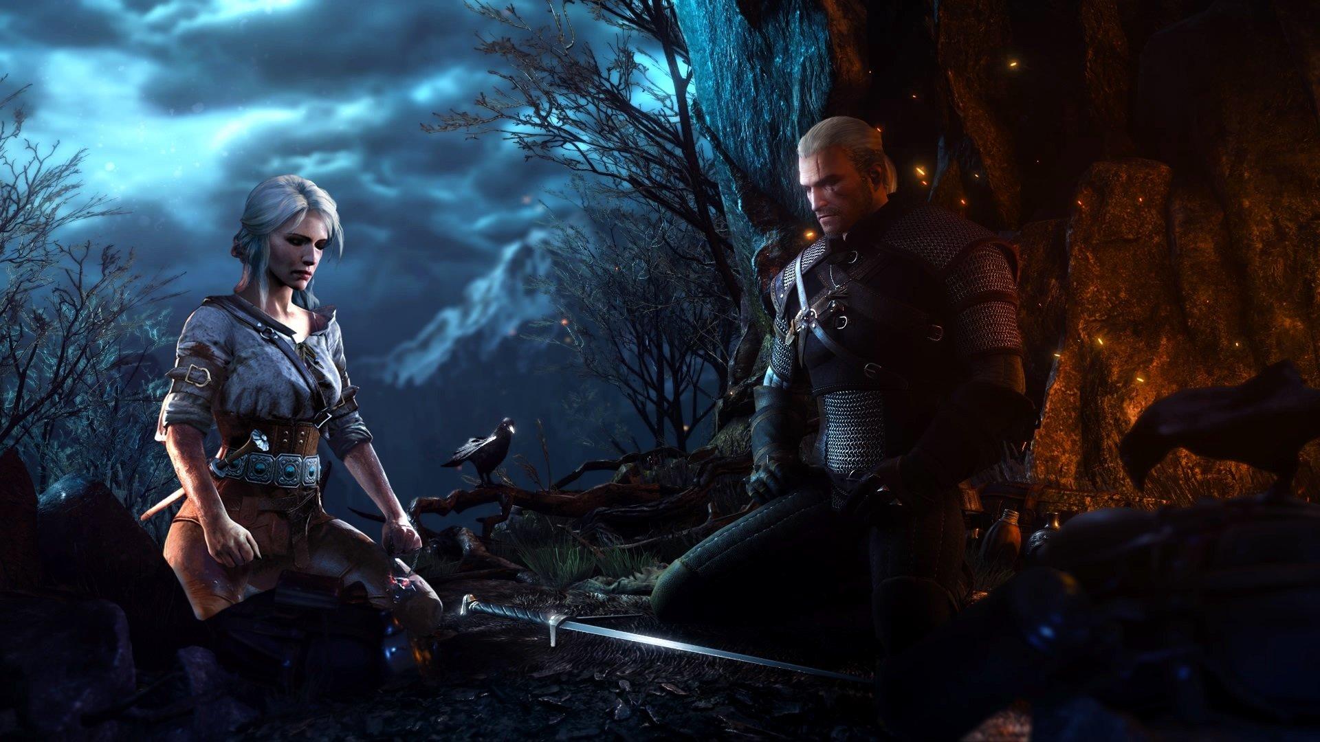 Geralt of rivia and Ciri HD Wallpaper Background Image 1920x1080