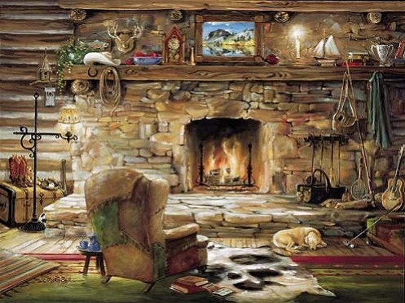 Computer English Country Cottage Wallpaper