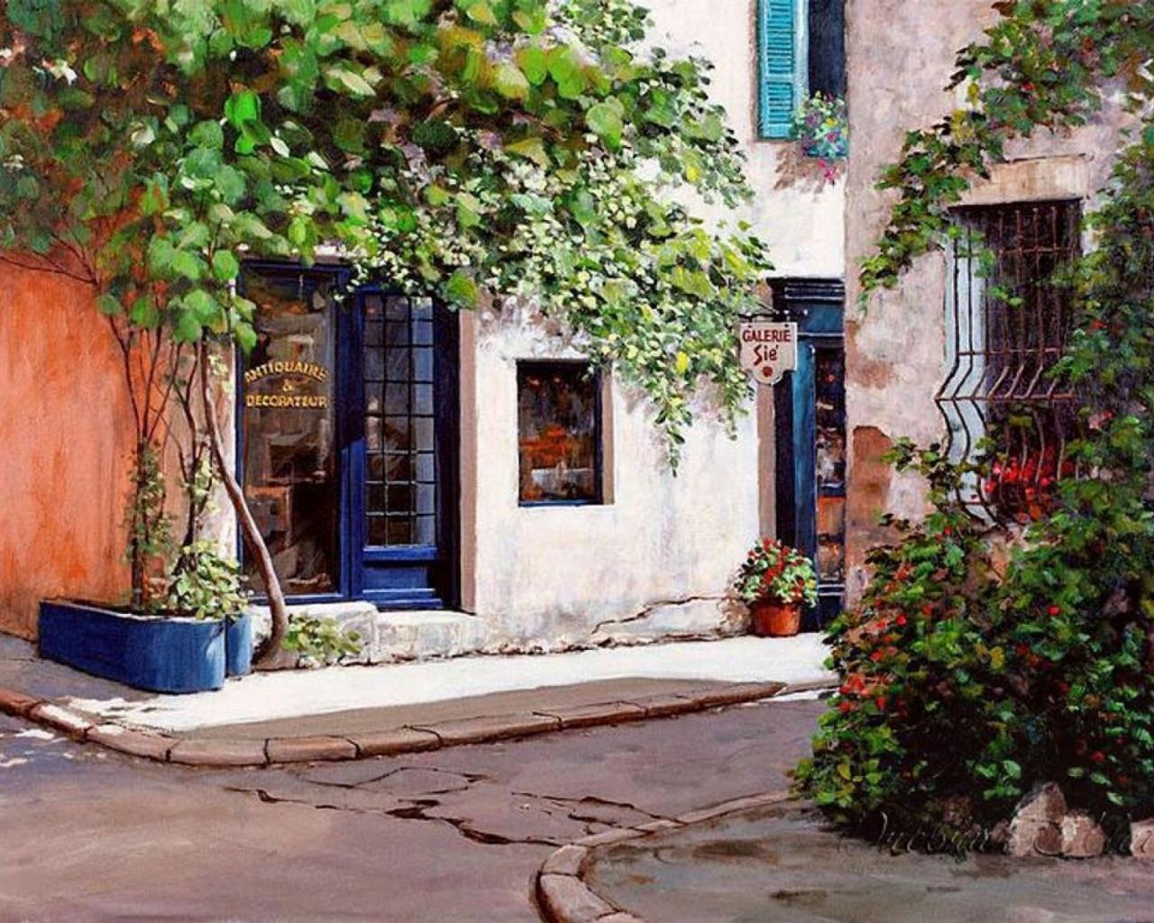 Antiques Shops Provence France wallpapers Antiques Shops 1280x1024