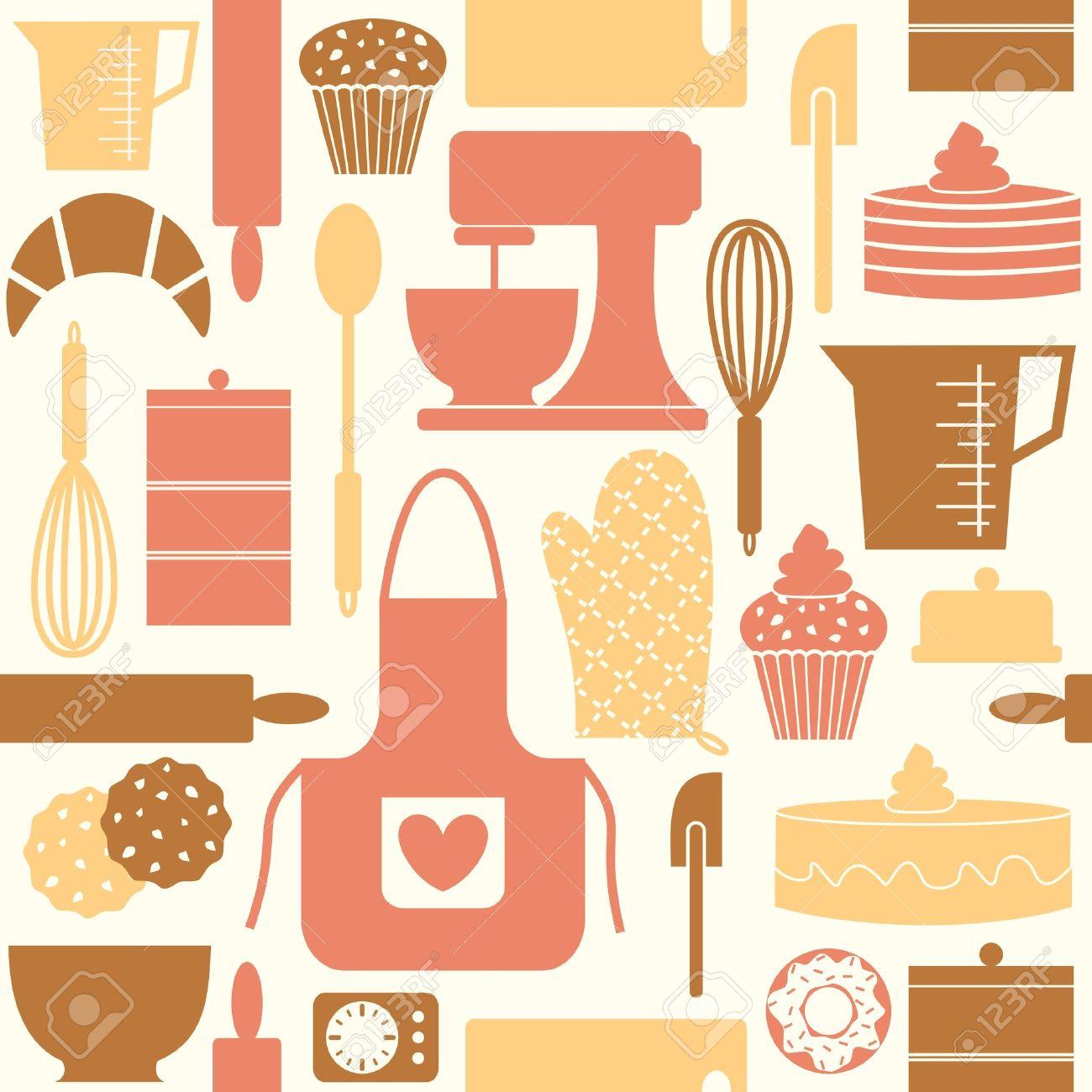 Pattern Seamless Seamless Pattern Kitchen Baking Bake Cook 1300x1300