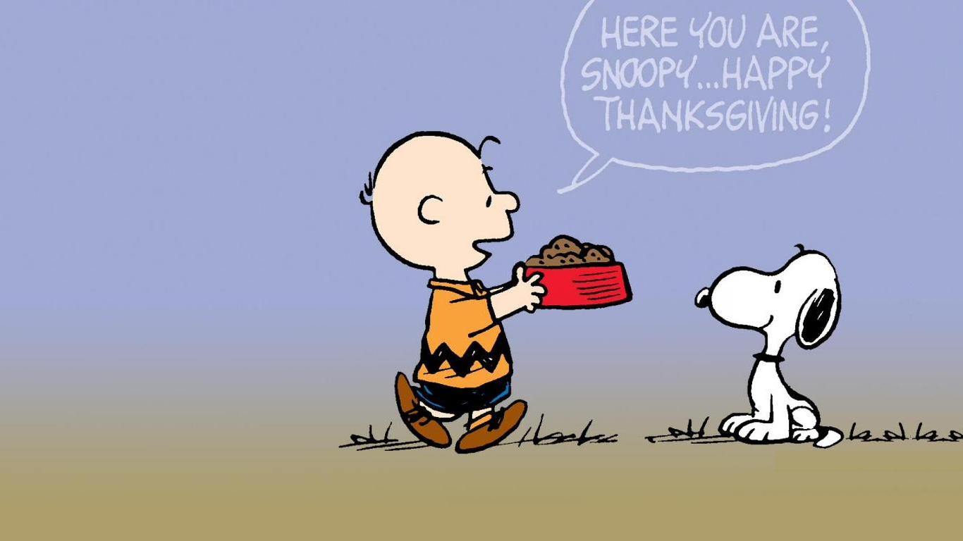 thanksgiving peanuts wallpaper snoopy 1366x768jpg 1366x768