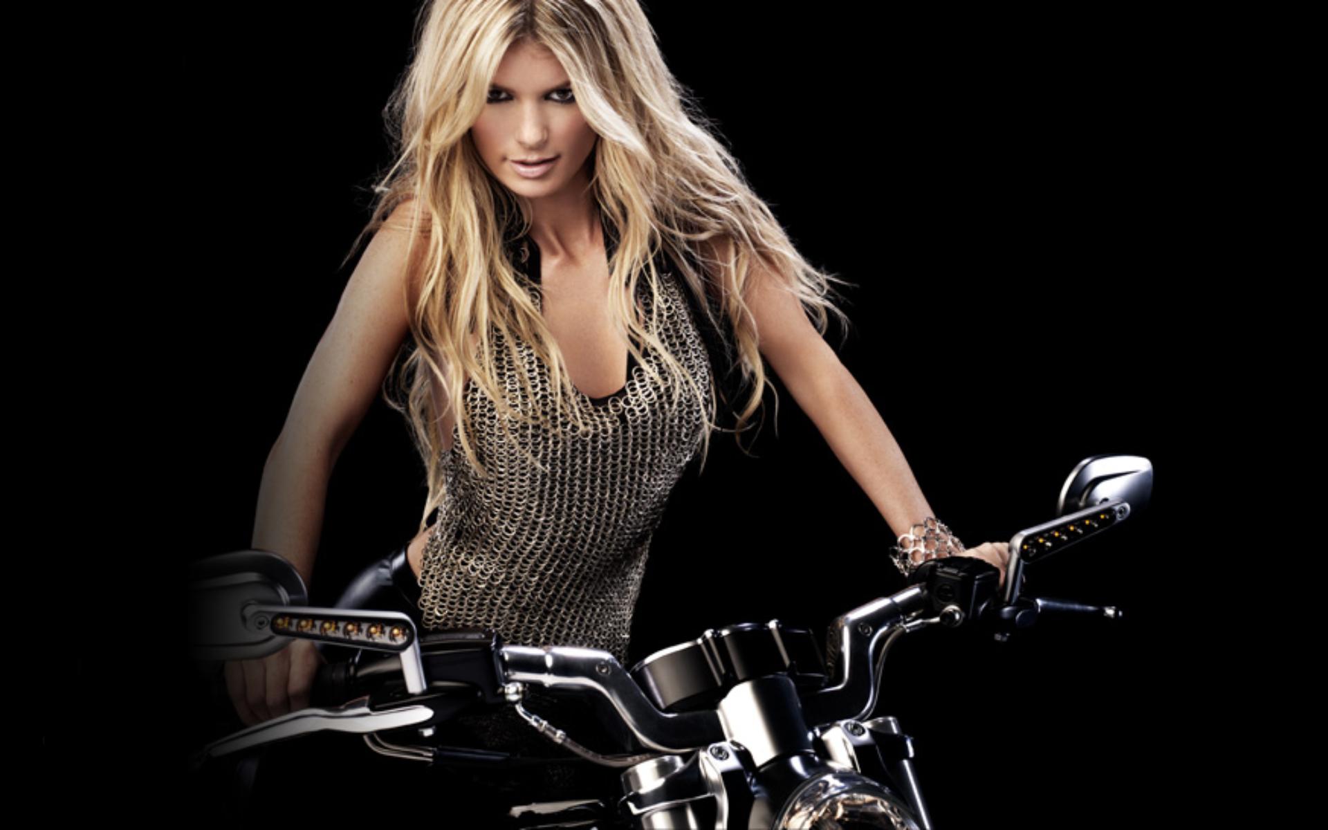 Download Wallpapers Harley Davidson Girls Chopper Bobber Girl Store 1920x1200