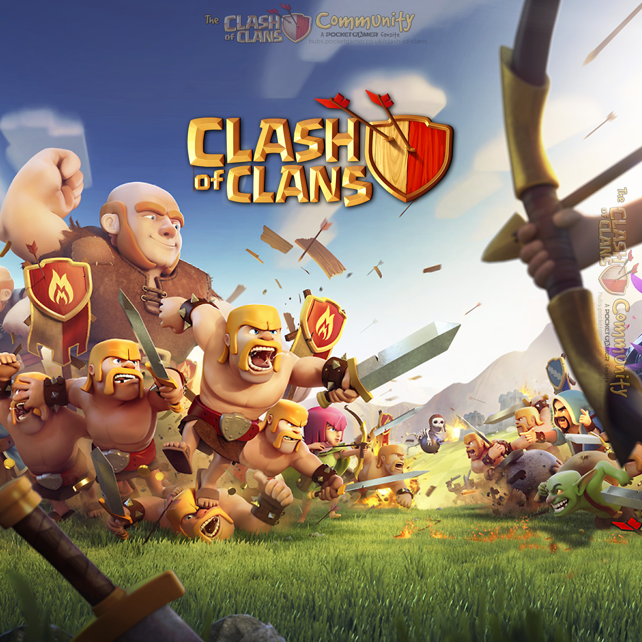 Download image 2048 X 1152 Pixel Clash Of Clans Wallpaper PC Android 2048x2048