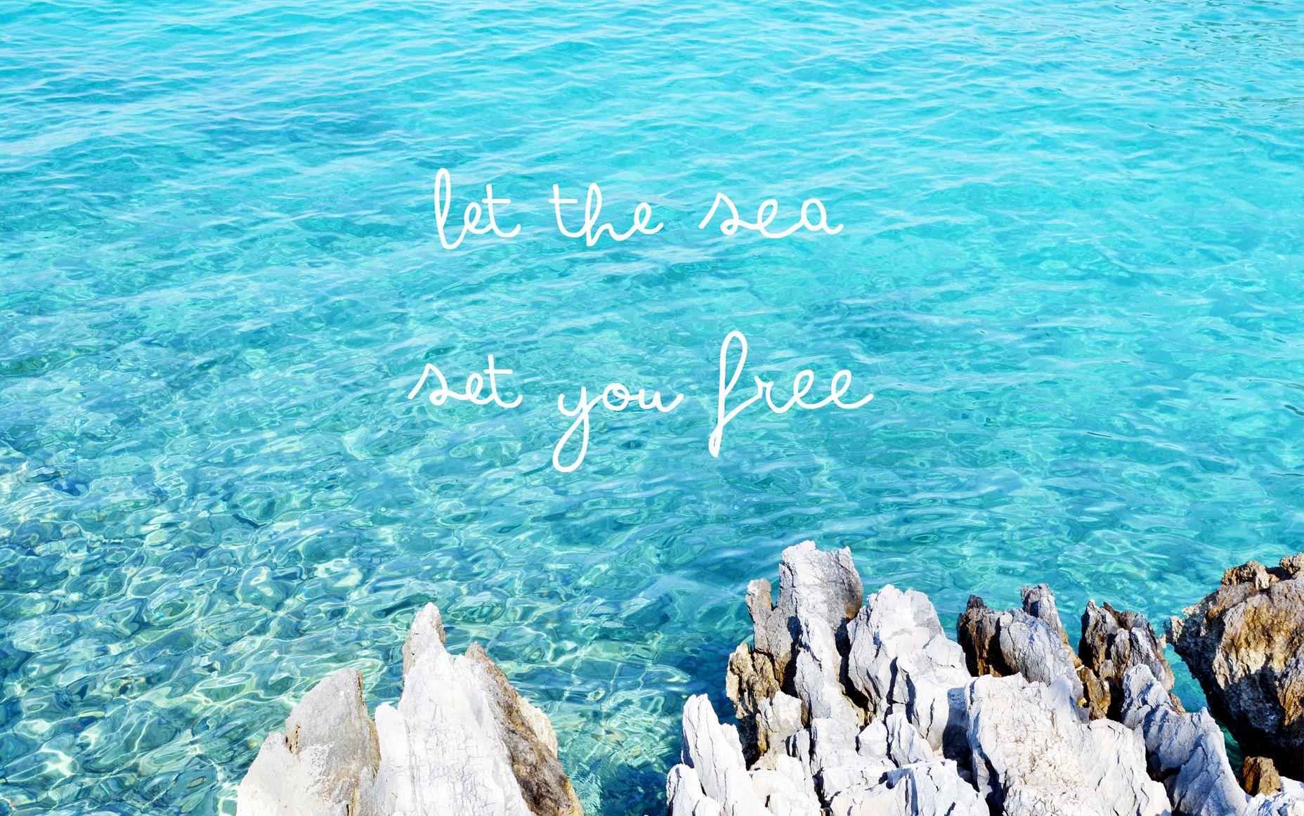 Aqua sea ocean view Sea desktop wallpaper background 1856x1161