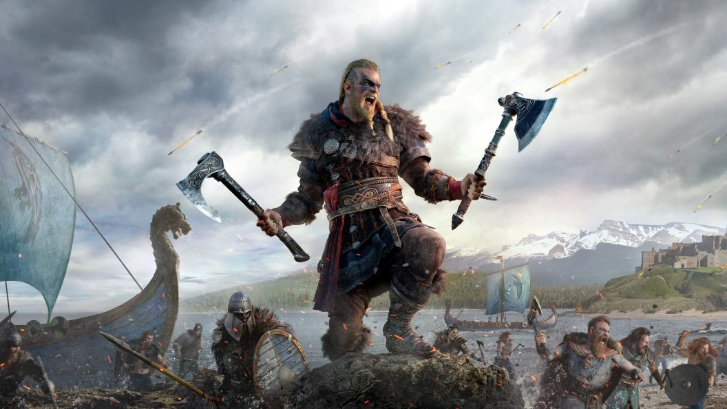 4K Assassins Creed Valhalla 3 PS4Wallpaperscom 1056x594