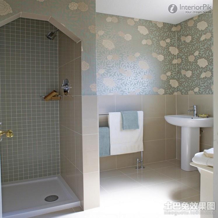 Pleasant bathroom wallpaper decorating elegant renderings Bathroom 747x746