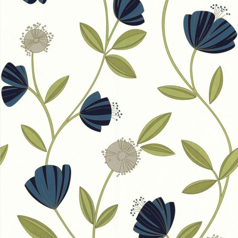 cream and blue wallpaper wallpapersafari. Black Bedroom Furniture Sets. Home Design Ideas