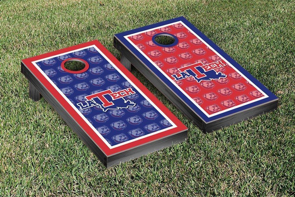 Louisiana Tech Bulldogs Repeat Logo Wallpaper Cornhole Set LA 1000x667