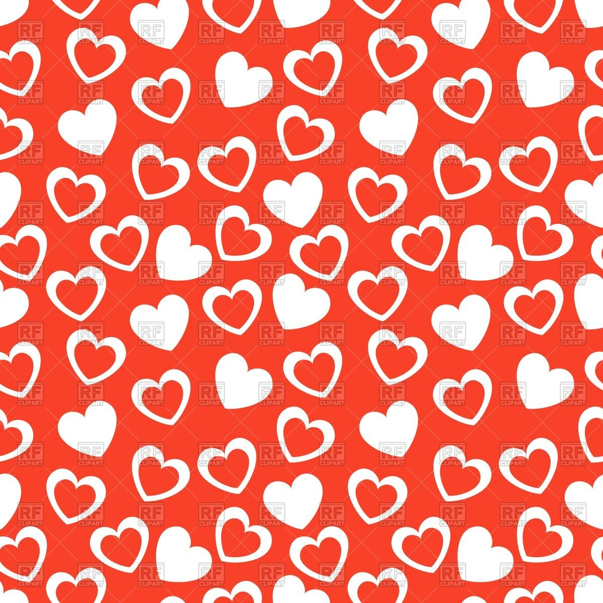 Seamless Valentines day background with herts Vector Image of 1200x1200