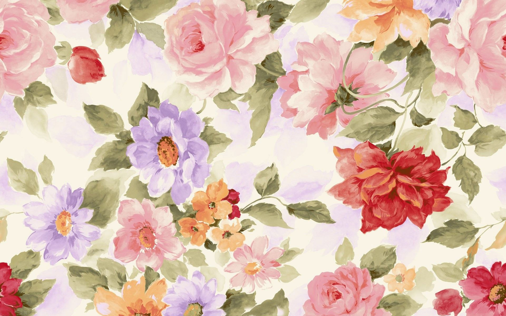 Flowers Painting Wallpaper 17161 1920x1200