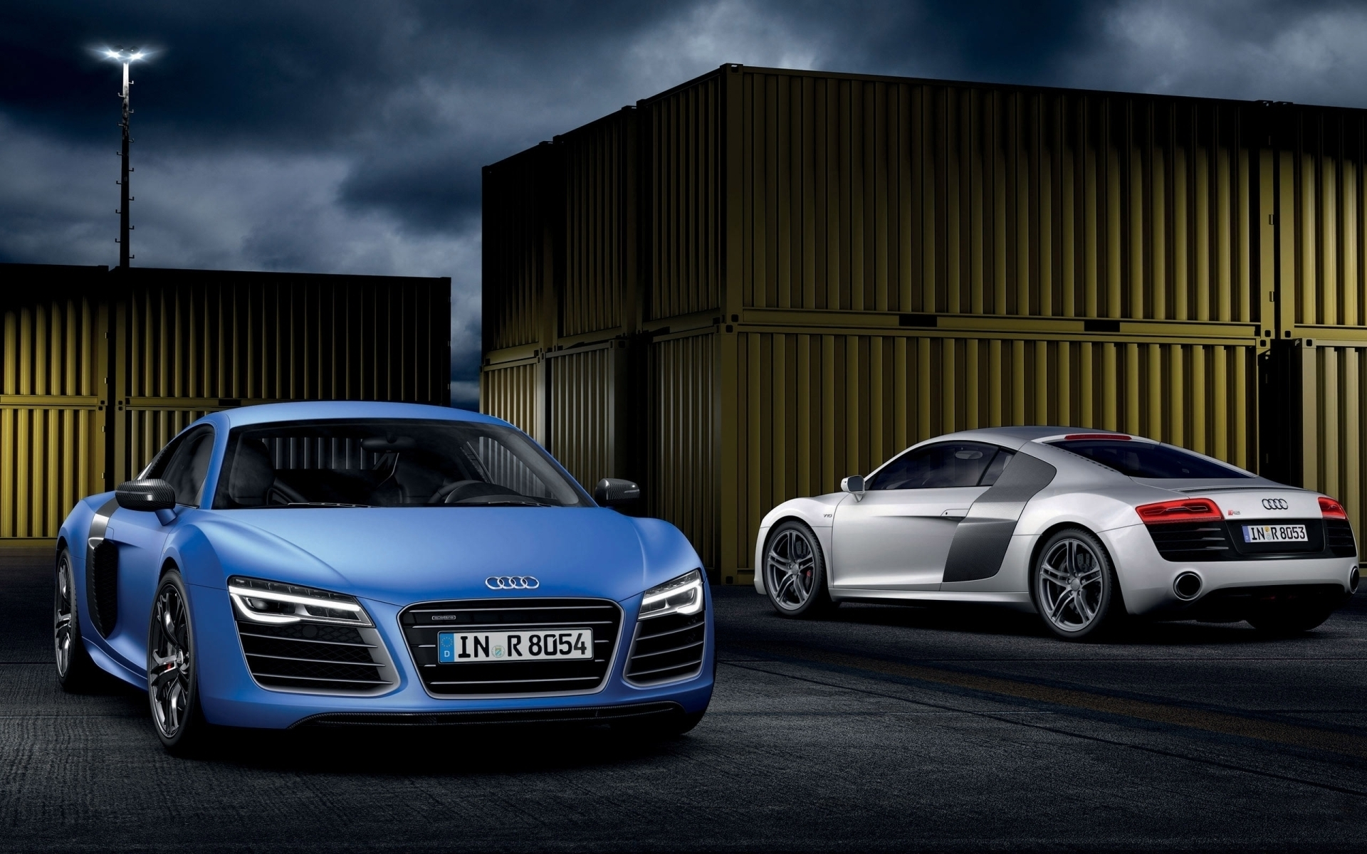 blue audi r8 v10 uhd wallpapers 1920x1200