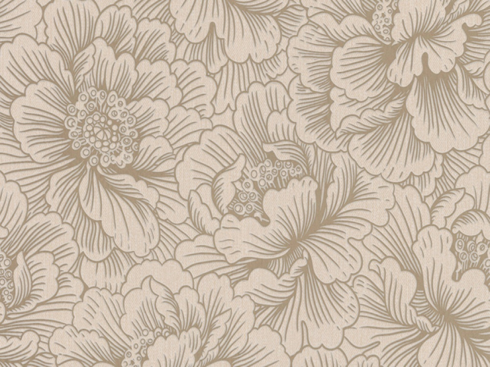 Flourish Cream Gold Floral Wallpaper   FREE Delivery 1000x750