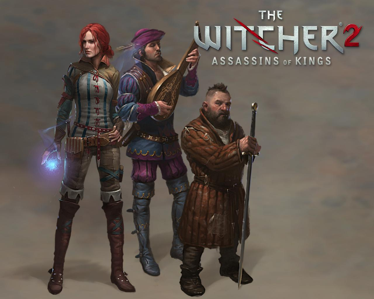 Wallpapers The Witcher The Witcher 2 Assassins of Kings vdeo game 1280x1024