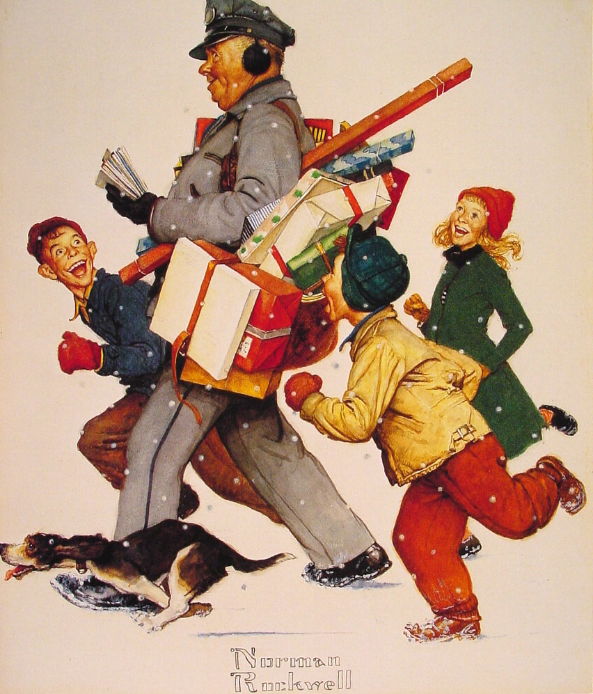 Norman Rockwell Christmas Wallpaper Free - WallpaperSafari