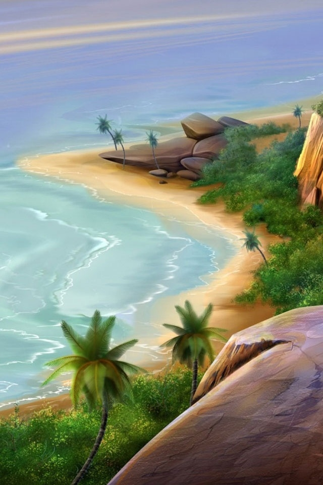 download beautiful sea beach ps wallpapers for iphone 4 640x960