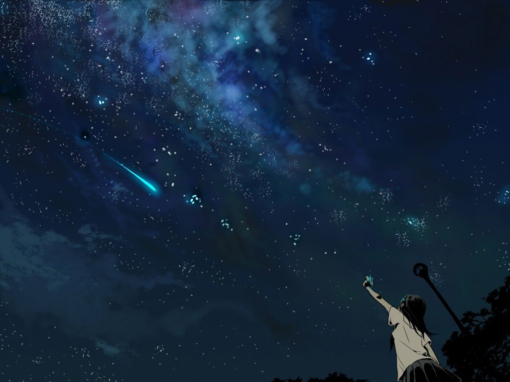 anime Shooting Stars Wallpapers HD Desktop and Mobile 1024x768