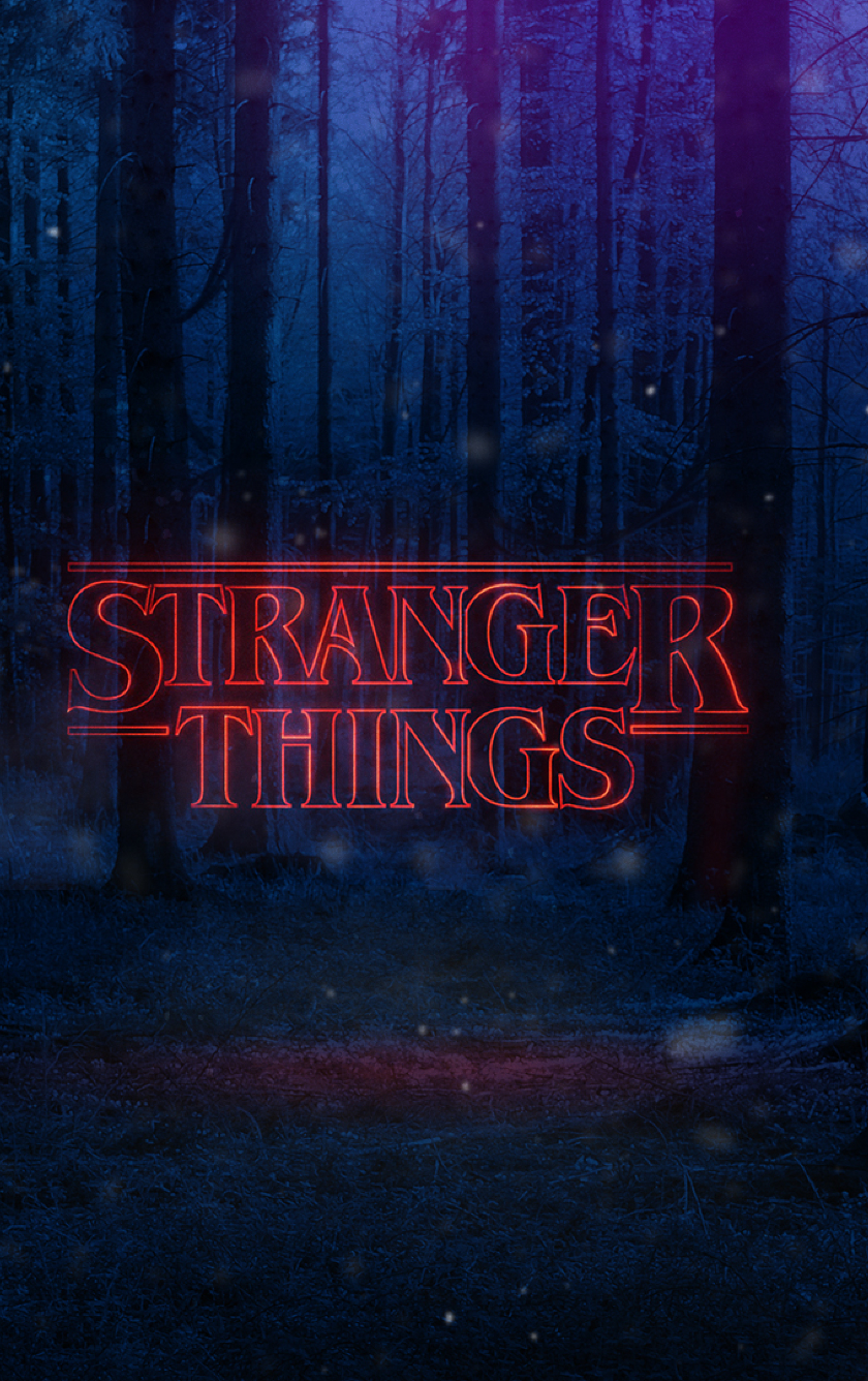 Download Stranger Things Text Poster 1024x768 Resolution 840x1336