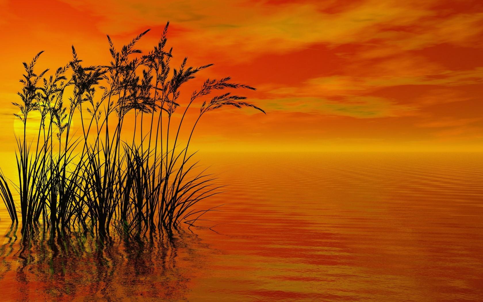 Windows 8 Wallpaper 3D Sunset Render wallpapers x 1680x1050