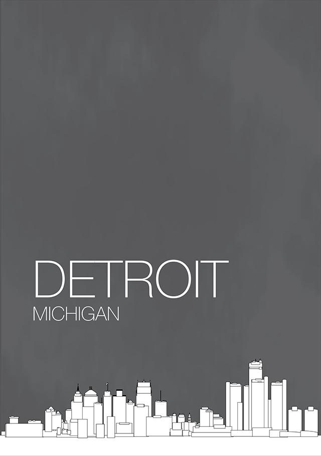 Detroit and Grand Rapids Michigan Skyline Posters   RIPT Apparel Blog 640x909
