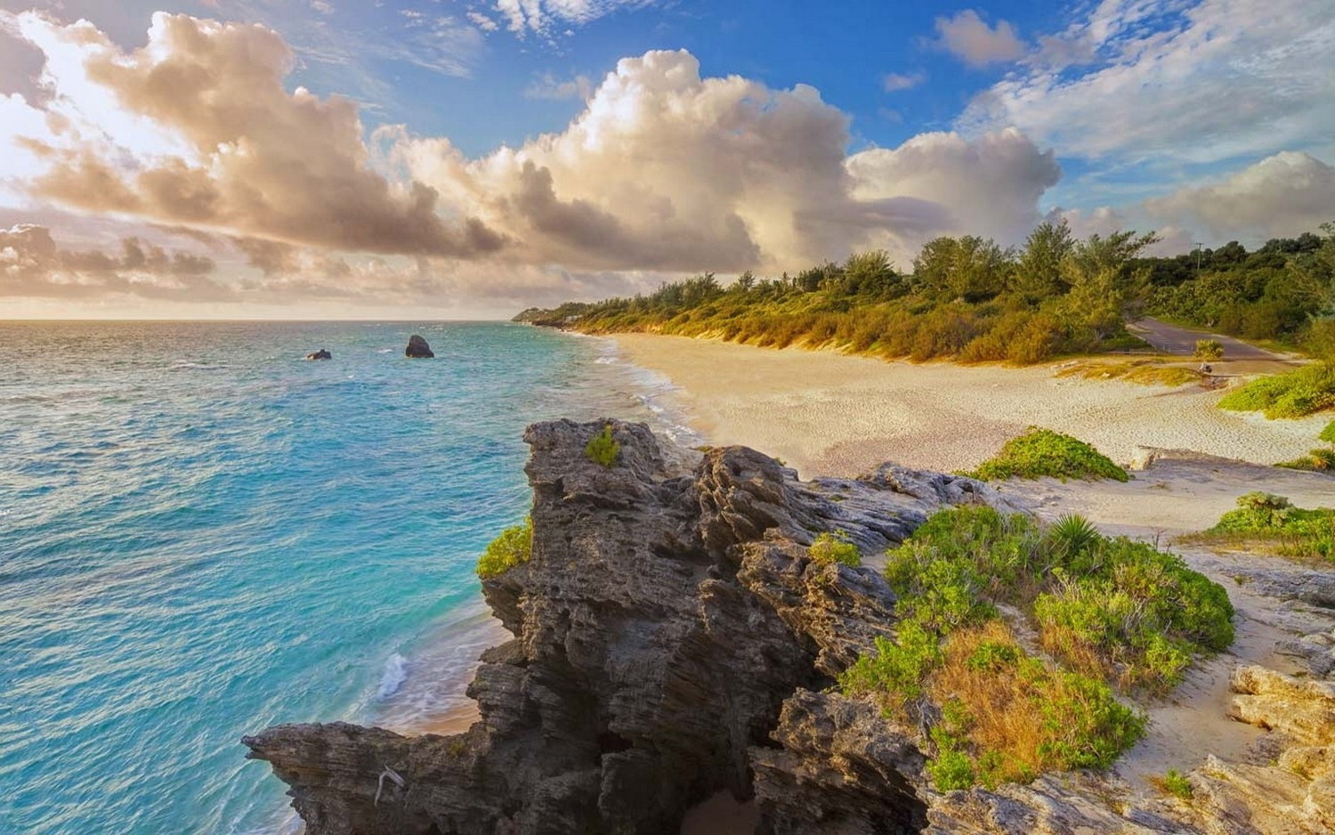 nature Landscape Beach Bermuda Island Sea Sand 1500x938