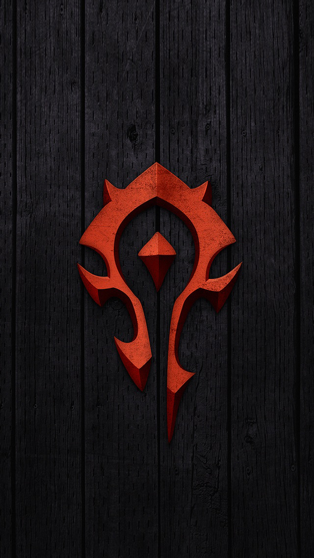Red World of Warcraft Horde Badge Wallpaper   iPhone Wallpapers 640x1136