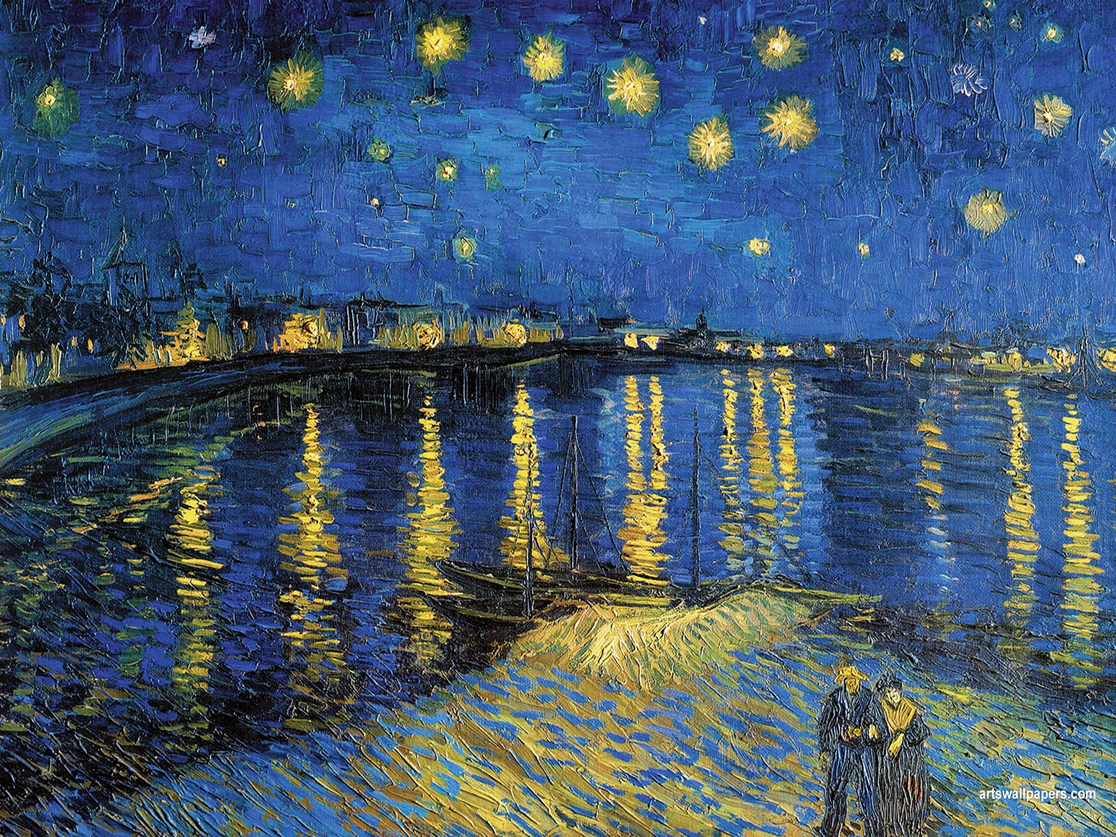 starry night over the rhone essay His night paintings, including starry night over the rhone, emphasize the importance he placed in capturing the sparkling colors of the night sky and the artificial lighting that was new to this period.