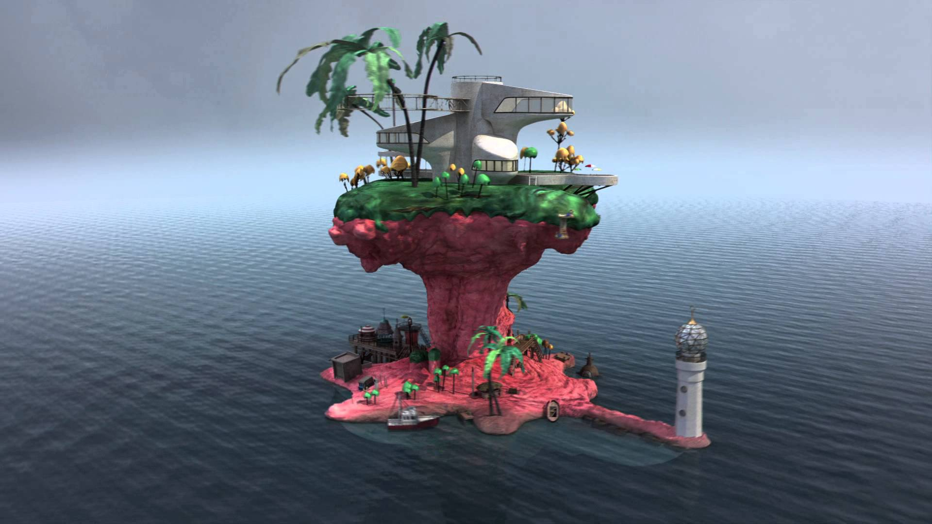 gorillaz wallpapers plastic beach - photo #34