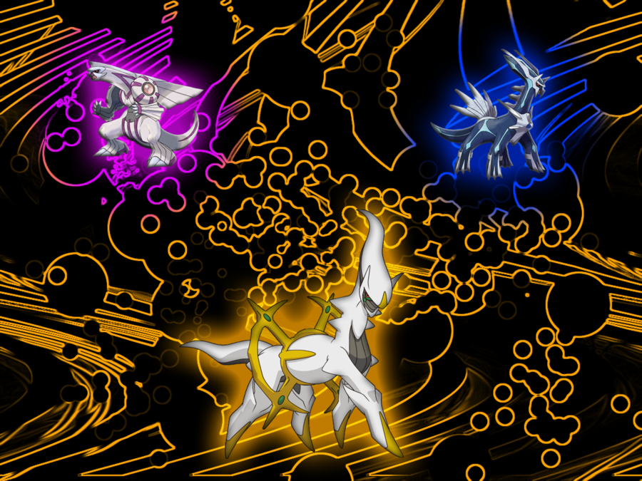 Arceus Hd Wallpapers: Palkia And Dialga Wallpaper