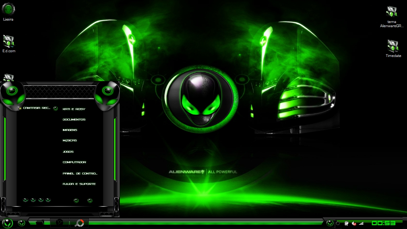 Alienware Green Theme 1366x768