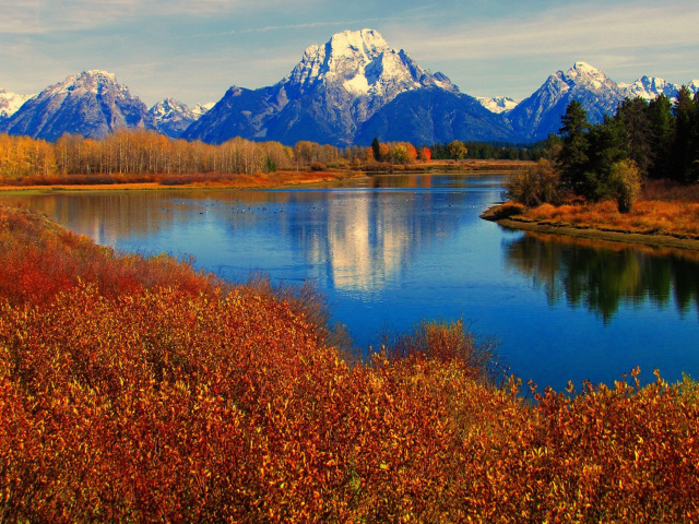 Autumn Landscape in Wisconsin Wallpaper for Samsung Galaxy 640x480