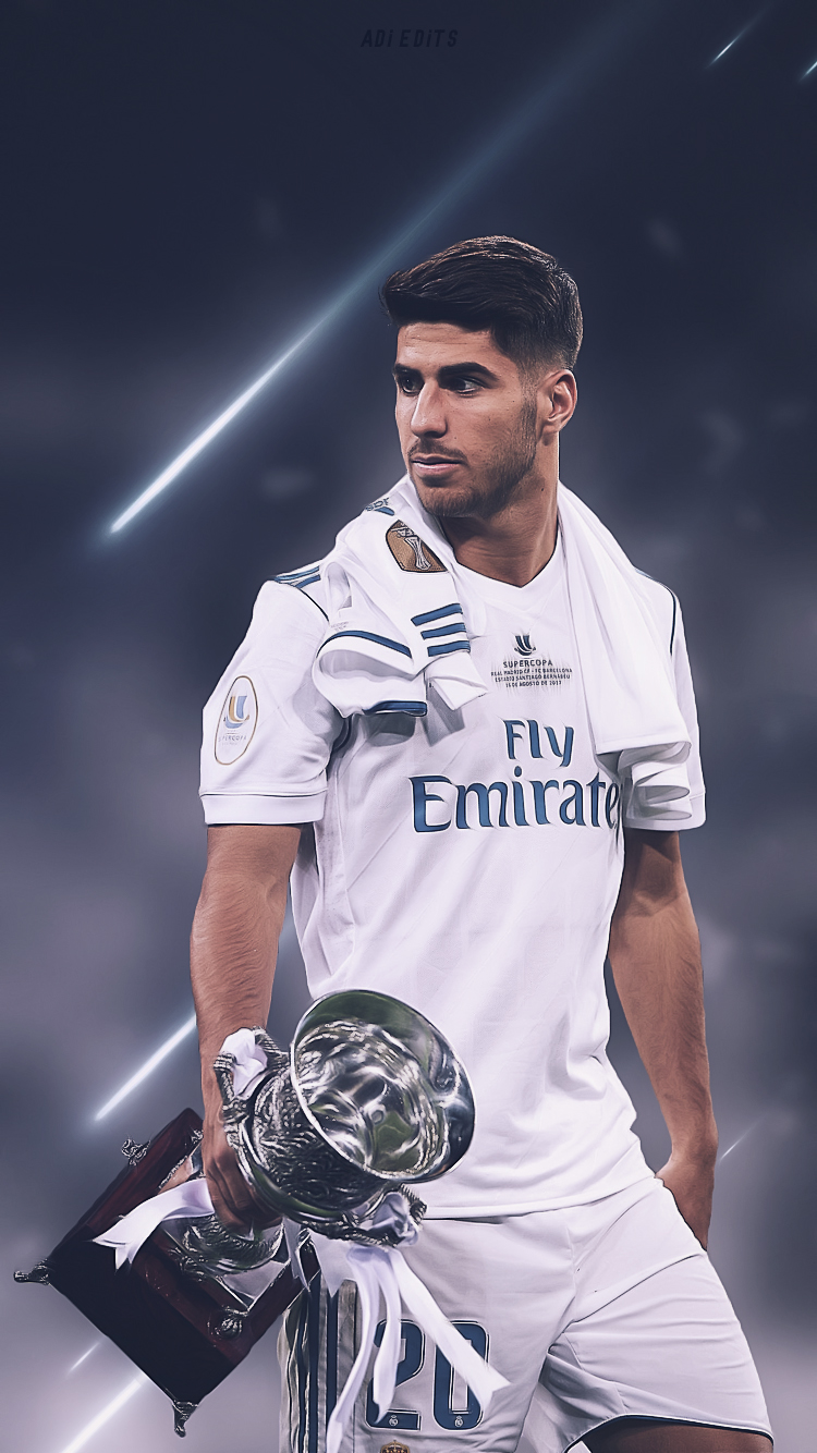 Marco Asensio Real Madrid Wallpaper Locscreen HD by adi 149 on 750x1334