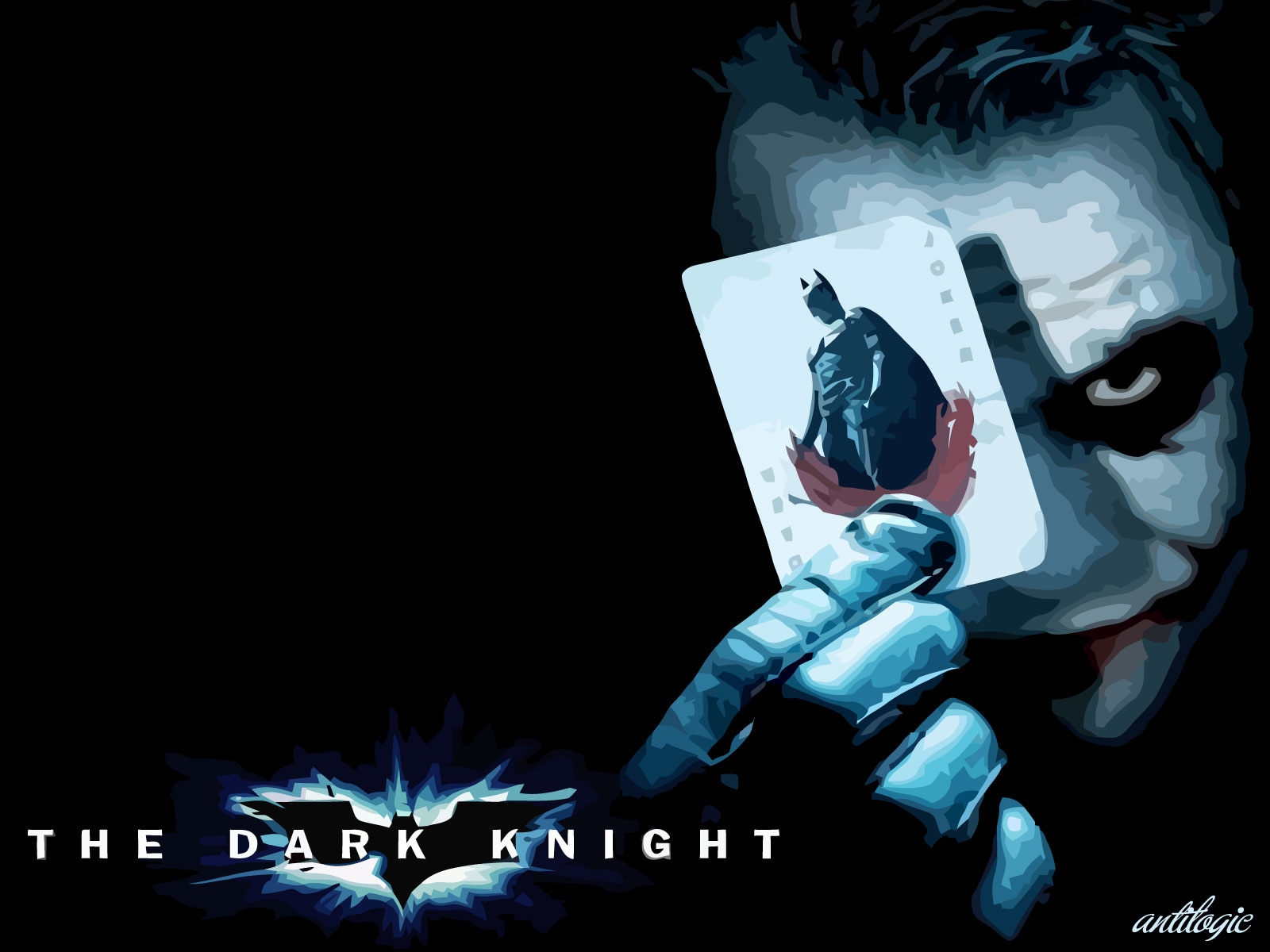 Batman The Dark Knight Wallpaper The Joker Antilogic 1600x1200