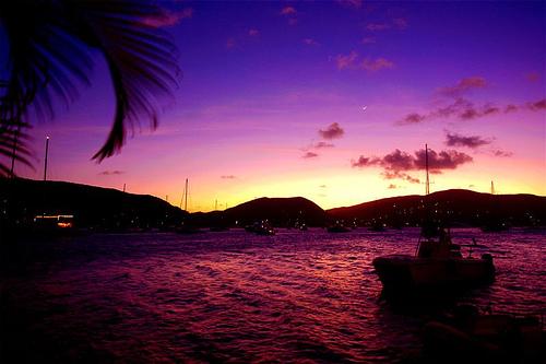 Caribbean Sunset Wallpaper Desktop - 90.7KB