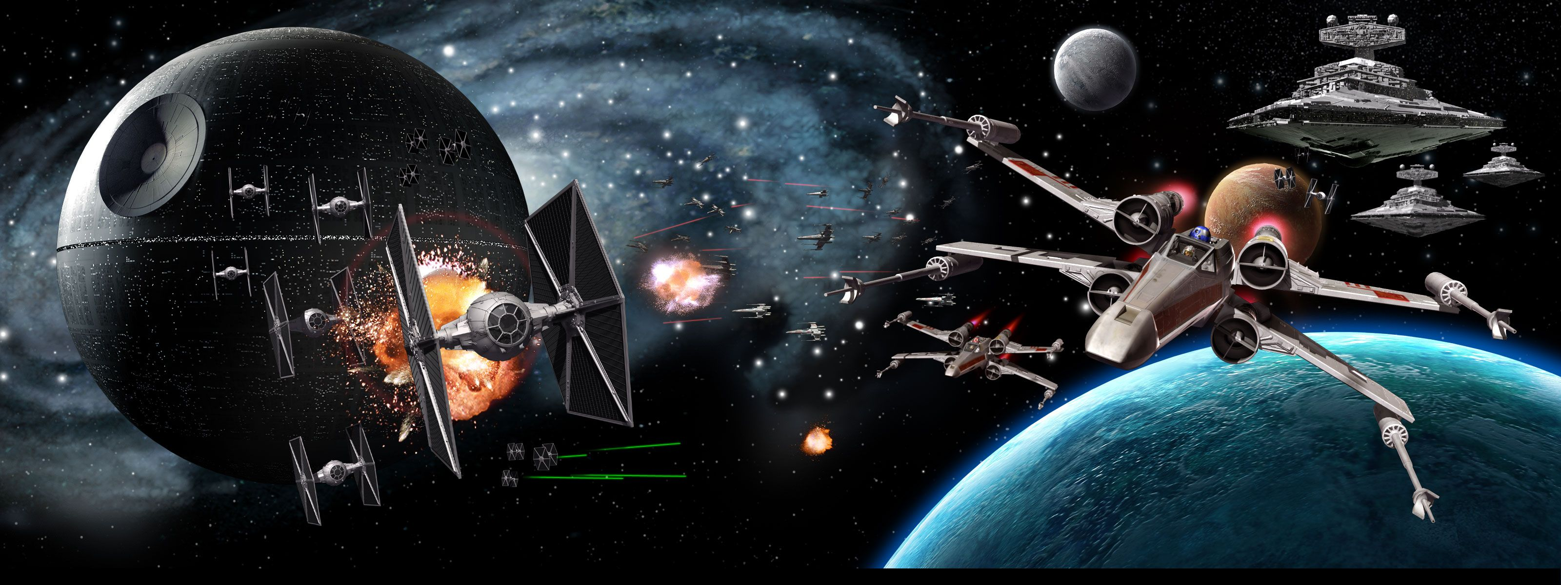 50] Star Wars Space Battle Wallpaper on WallpaperSafari 3200x1200