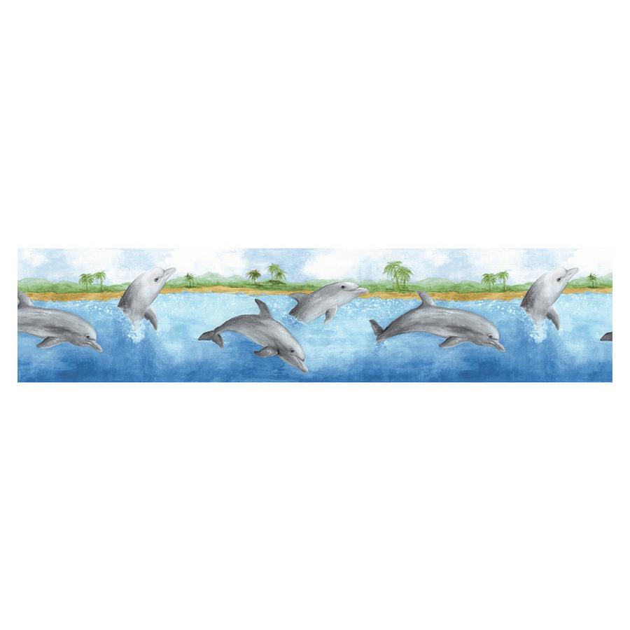 Shop Norwall Dolphin Wallpaper Border at Lowescom 900x900