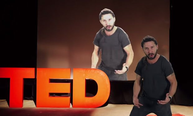 Shia LaBeouf tells the internet to Just Do It in bizarre motivational 620x374