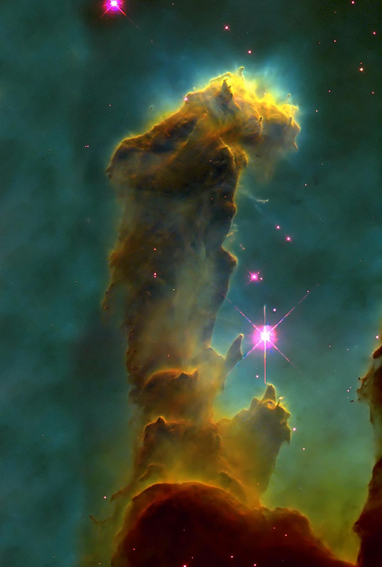 Eagle nebula wallpaper wallpapersafari - Pillars of creation wallpaper ...
