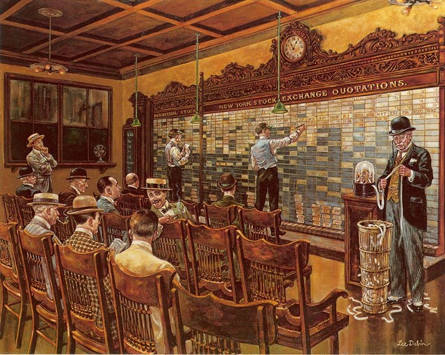 The Stock Market Wall Mural   Traditional   Wallpaper   by Murals Your 640x510