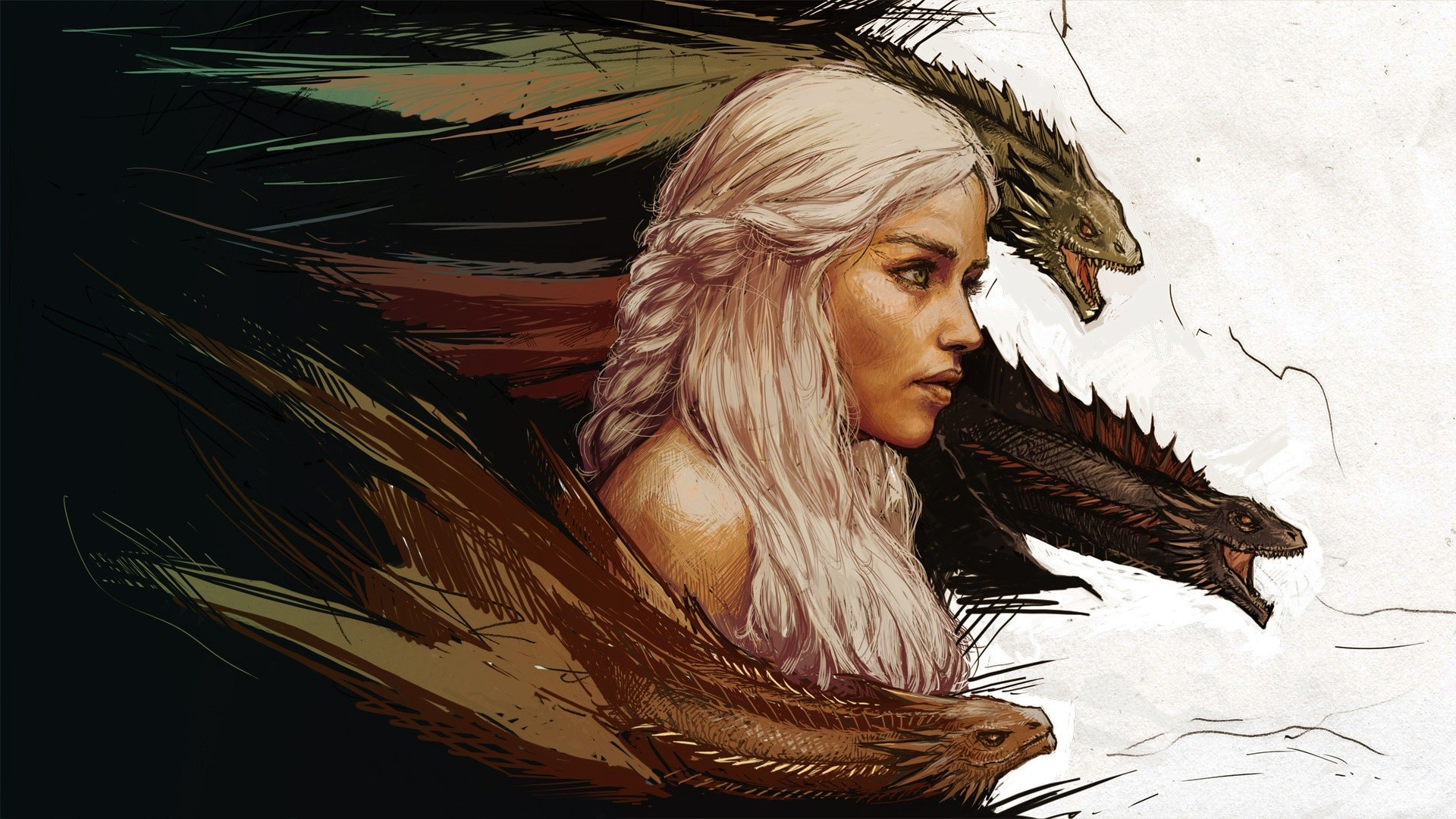 Game of Thrones Khaleesi Wallpaper   DigitalArtio 1920x1080
