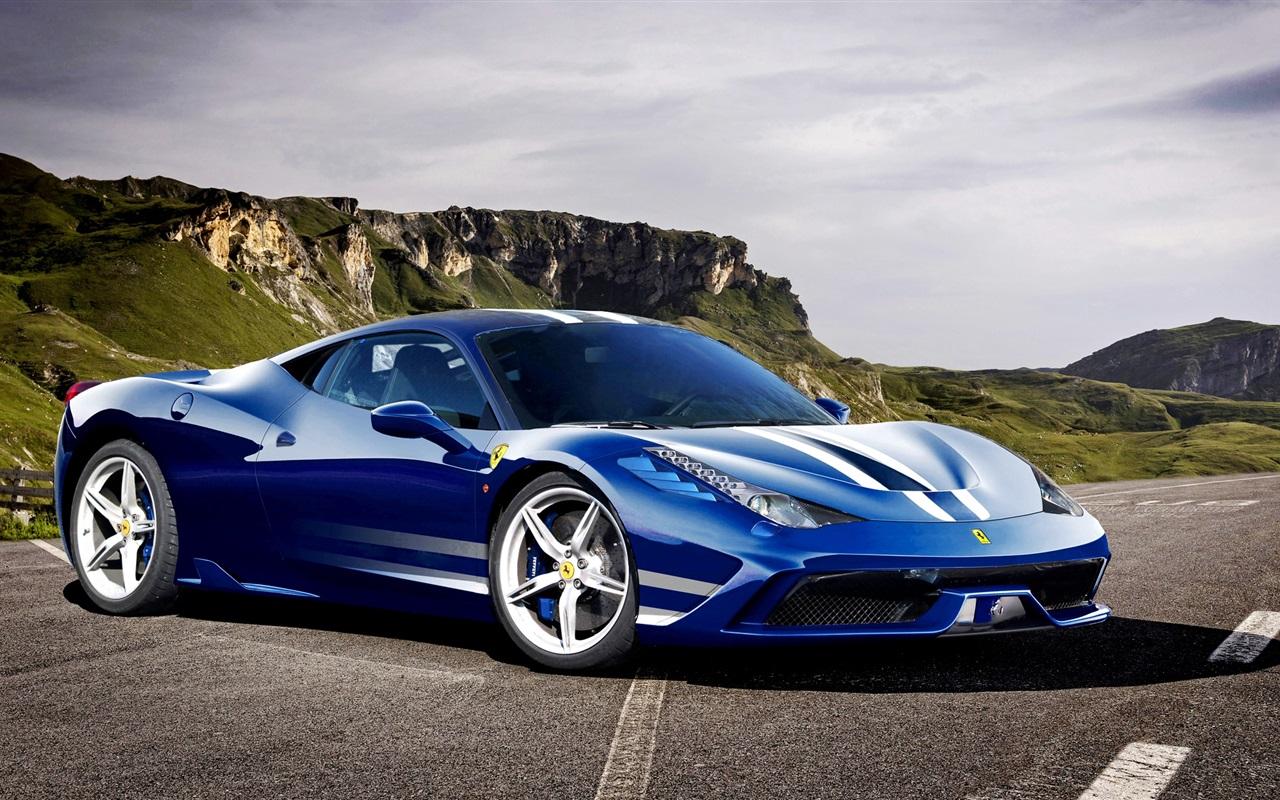 Ferrari 458 Italia Speciale azul Wallpapers gratis   Imagenes 1280x800