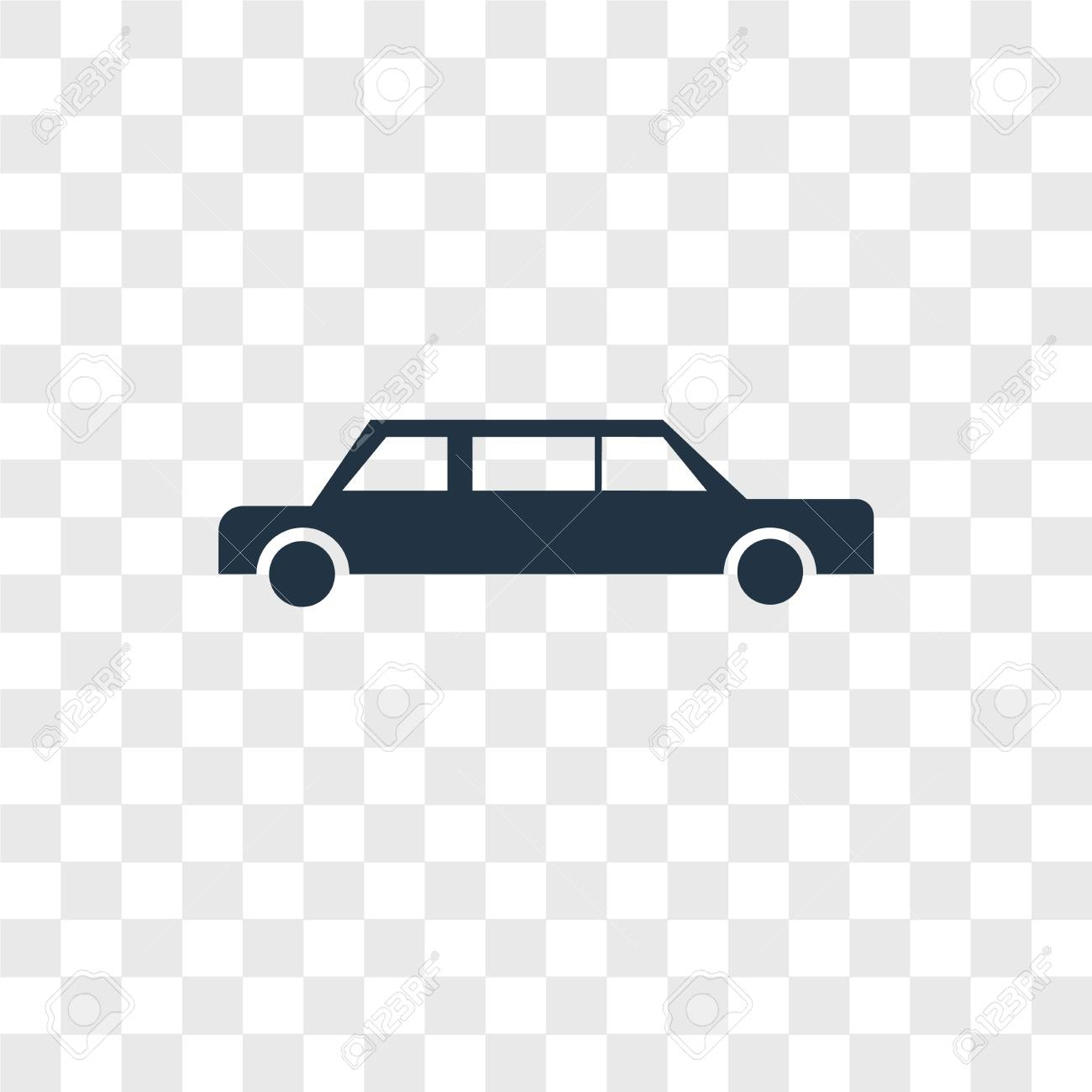 Limousine Vector Icon Isolated On Transparent Background 1300x1300