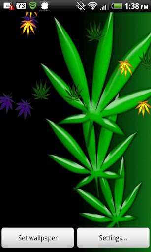 View bigger   Weed Live Wallpaper   420 Pot for Android screenshot 307x512
