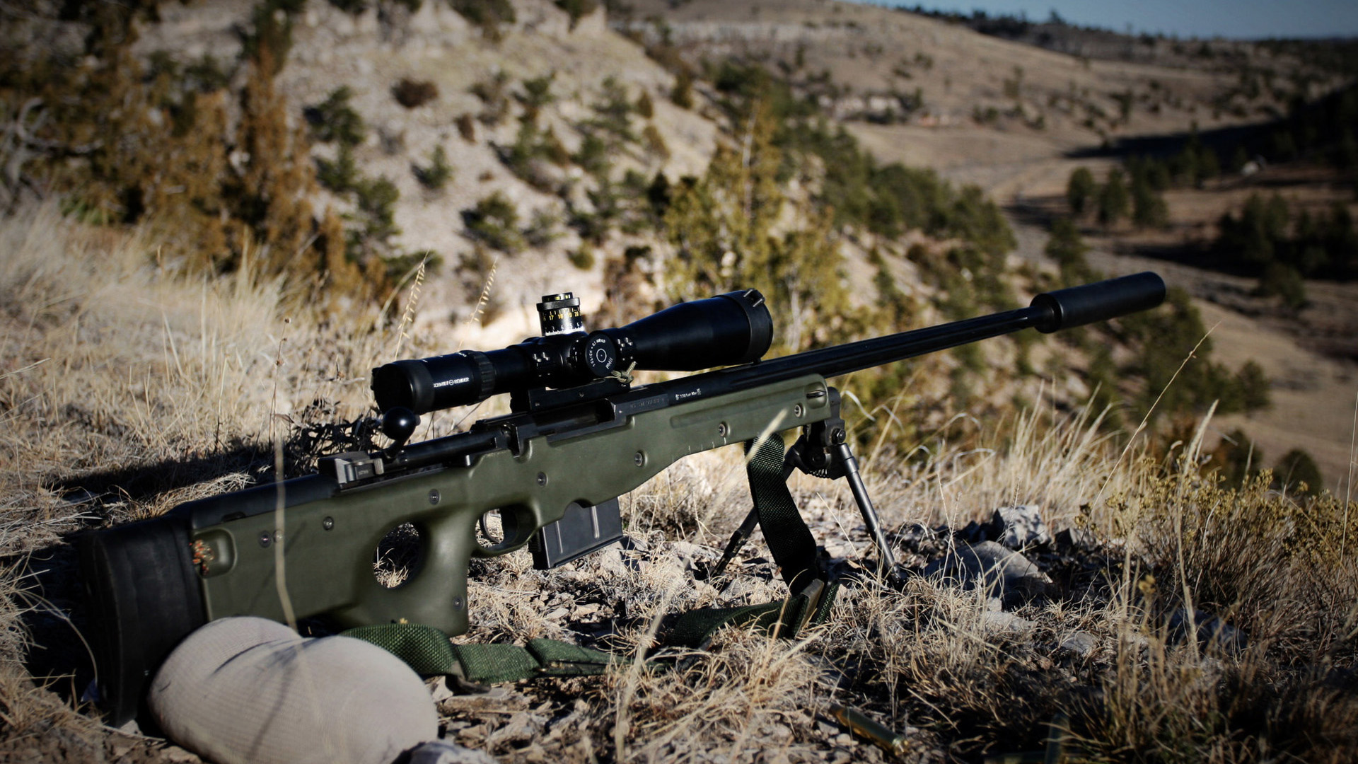 L96A1 sniper rifle Wallpapers HD Wallpaper Downloads 1920x1080
